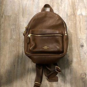 Brown coach mini backpack